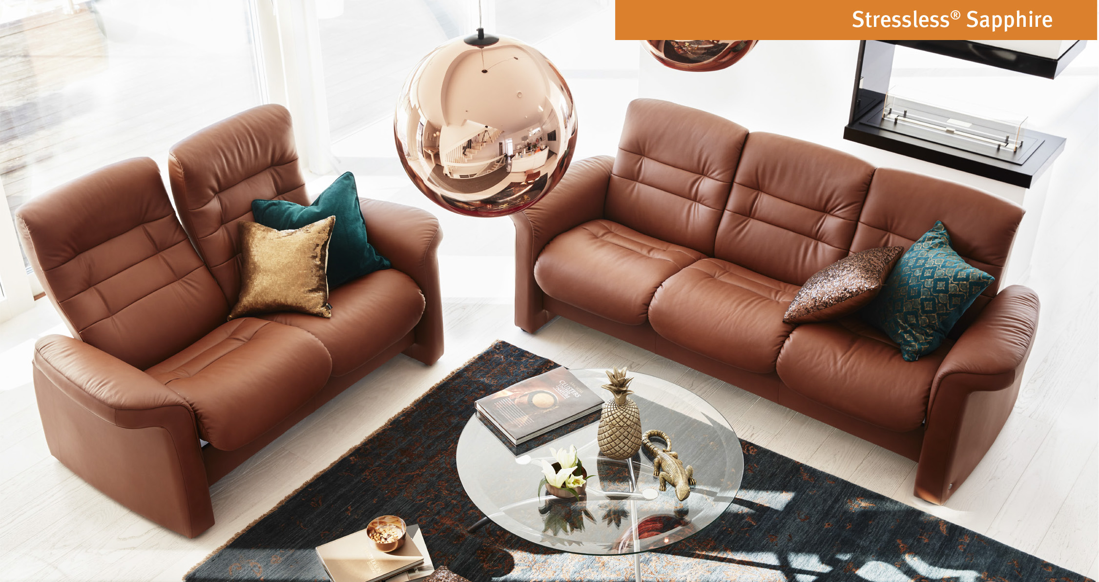 Ekornes Shire Sofa And Loveseat By Stressless